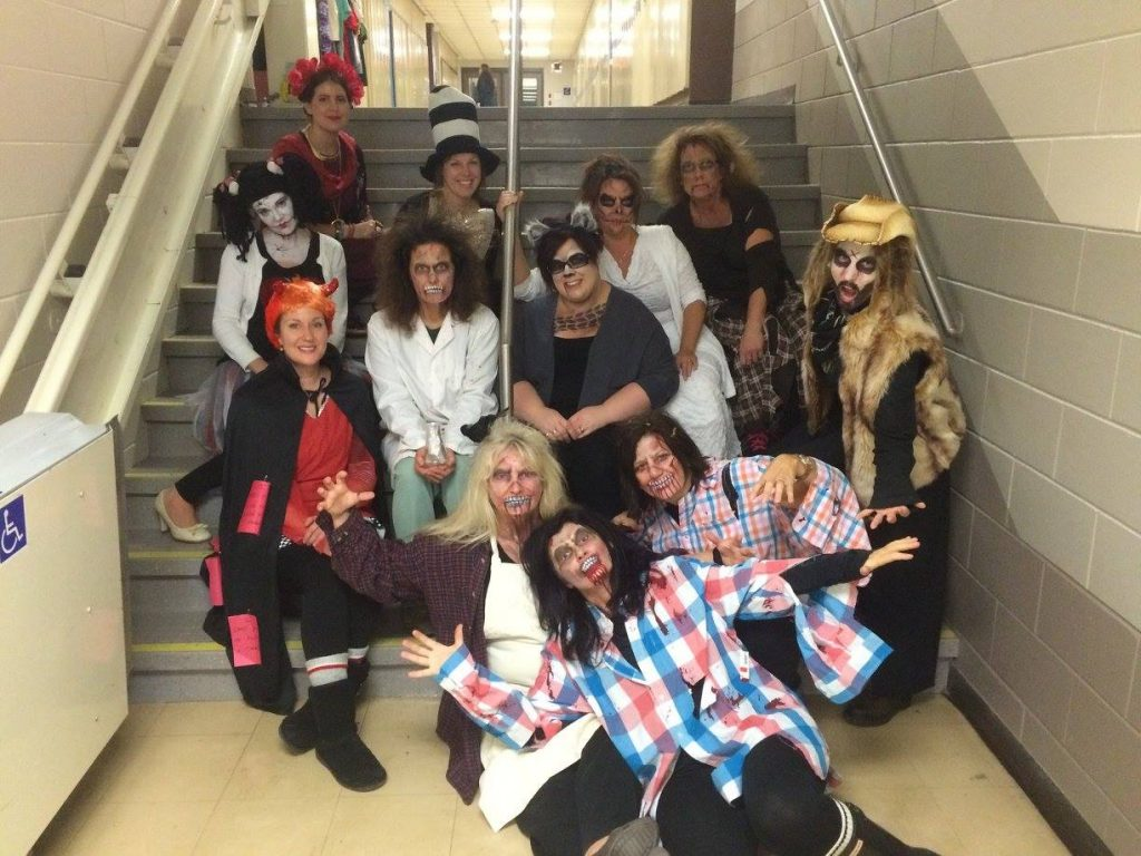 staff haloween picture